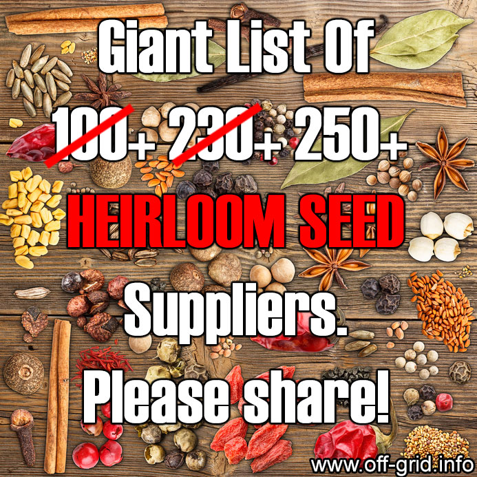 Giant List Of 250+ Heirloom Seed Suppliers - Where To Get