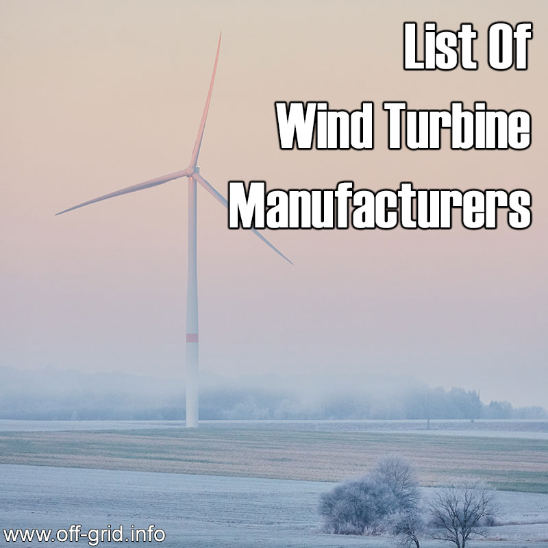 Wind Turbine Manufacturers
