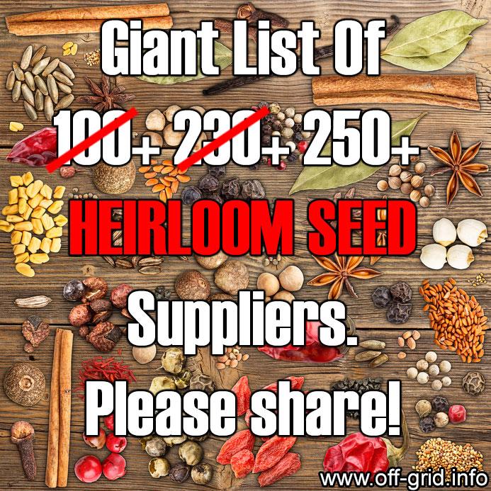 Heirloom Seed Suppliers